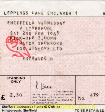 1984-85 div1 SHEFFIELD WEDNESDAY 1 LIVERPOOL 1 [479]